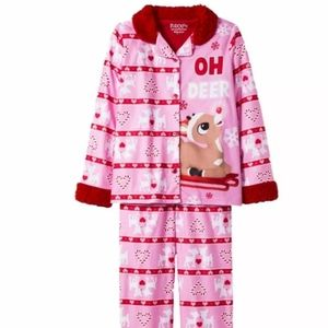 RUDOLPH THE RED NOSE REINDEER GIRLS 2 POECE PJ LG